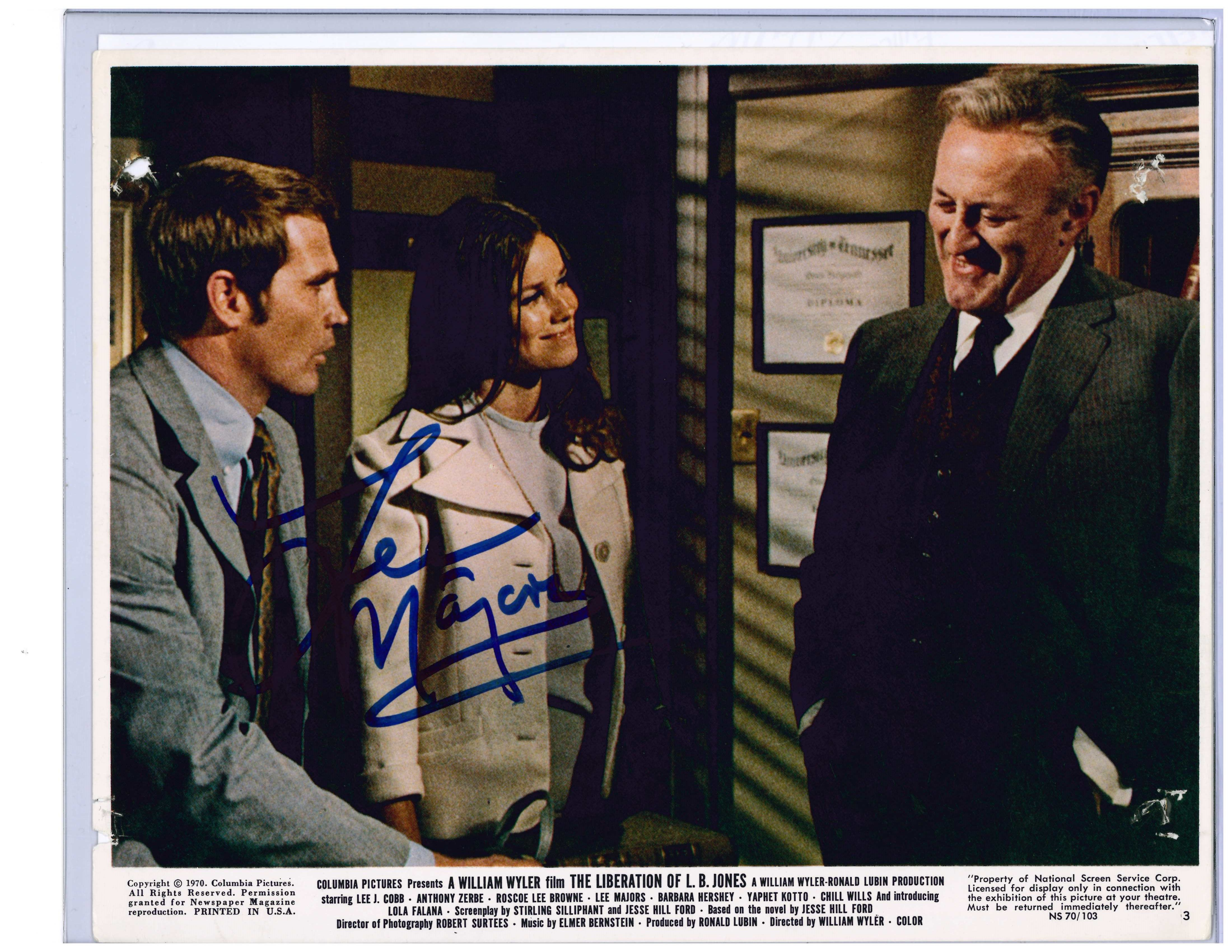 Liberation of LB Jones Movie Picture-One of Lee Majors first movies 1970. Autographed/Signed by Lee Majors at 2014 Motor City Comicon!