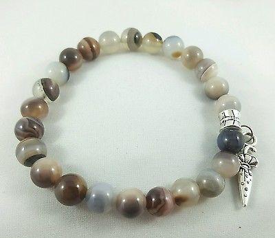 Grey-Agate-Beaded-Bracelet-with-Charm