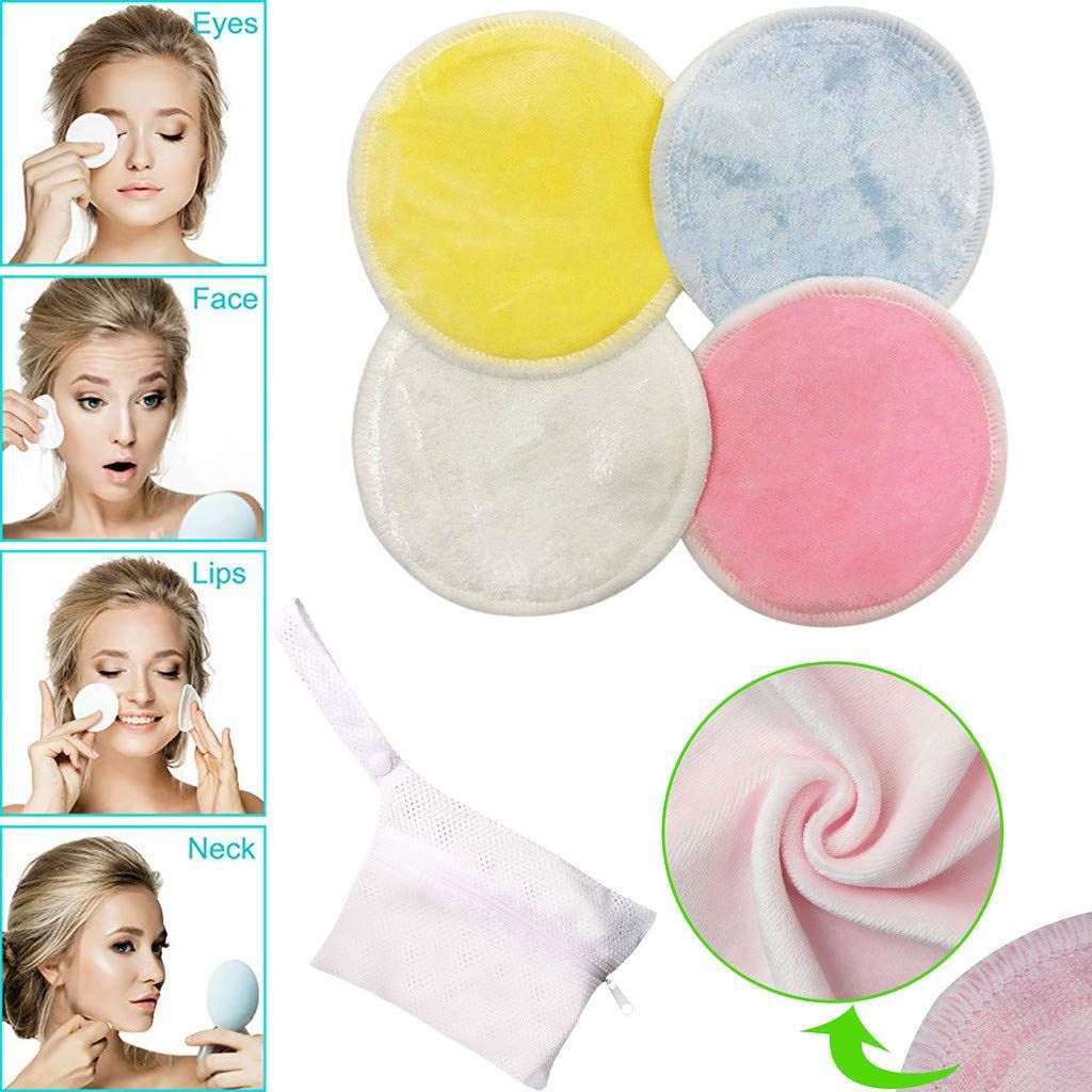 CapsA Makeup Remover Pads Reusable Natural Bamboo Cottons Facial Skin Caring Pads Face Cleaning Clothes Wipes Machine Washable