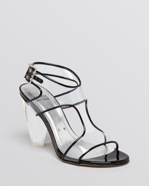 Stuart Weitzman Jelly Sandals With Lucite Heel