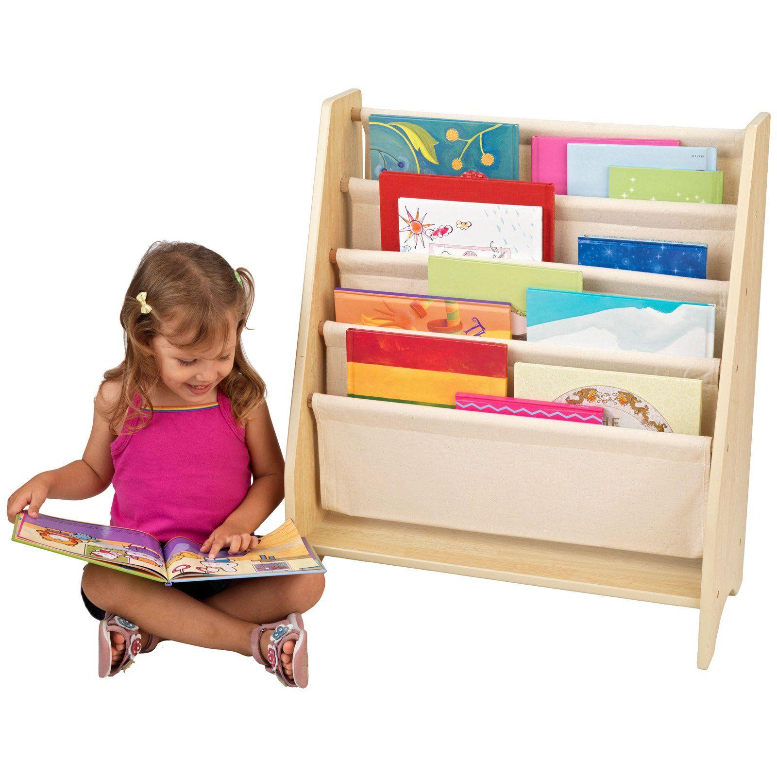Kidkraft 4 Shelf Natural Book Sling Bookshelf In 2019