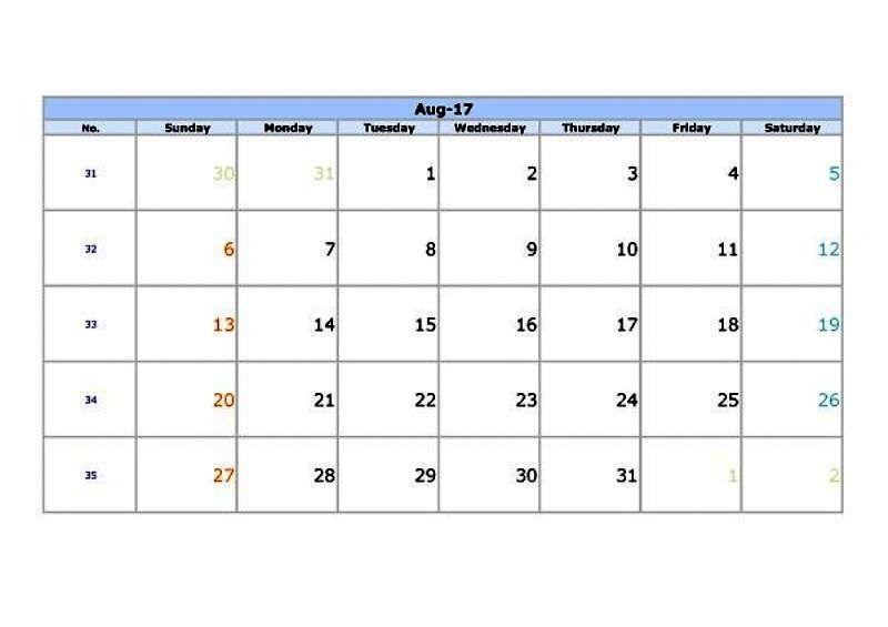 august calendar 2017, calendar august 2017, calendar 2017 august - sample indesign calendar