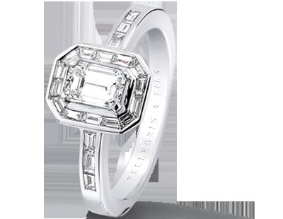bague diamant fil transparent