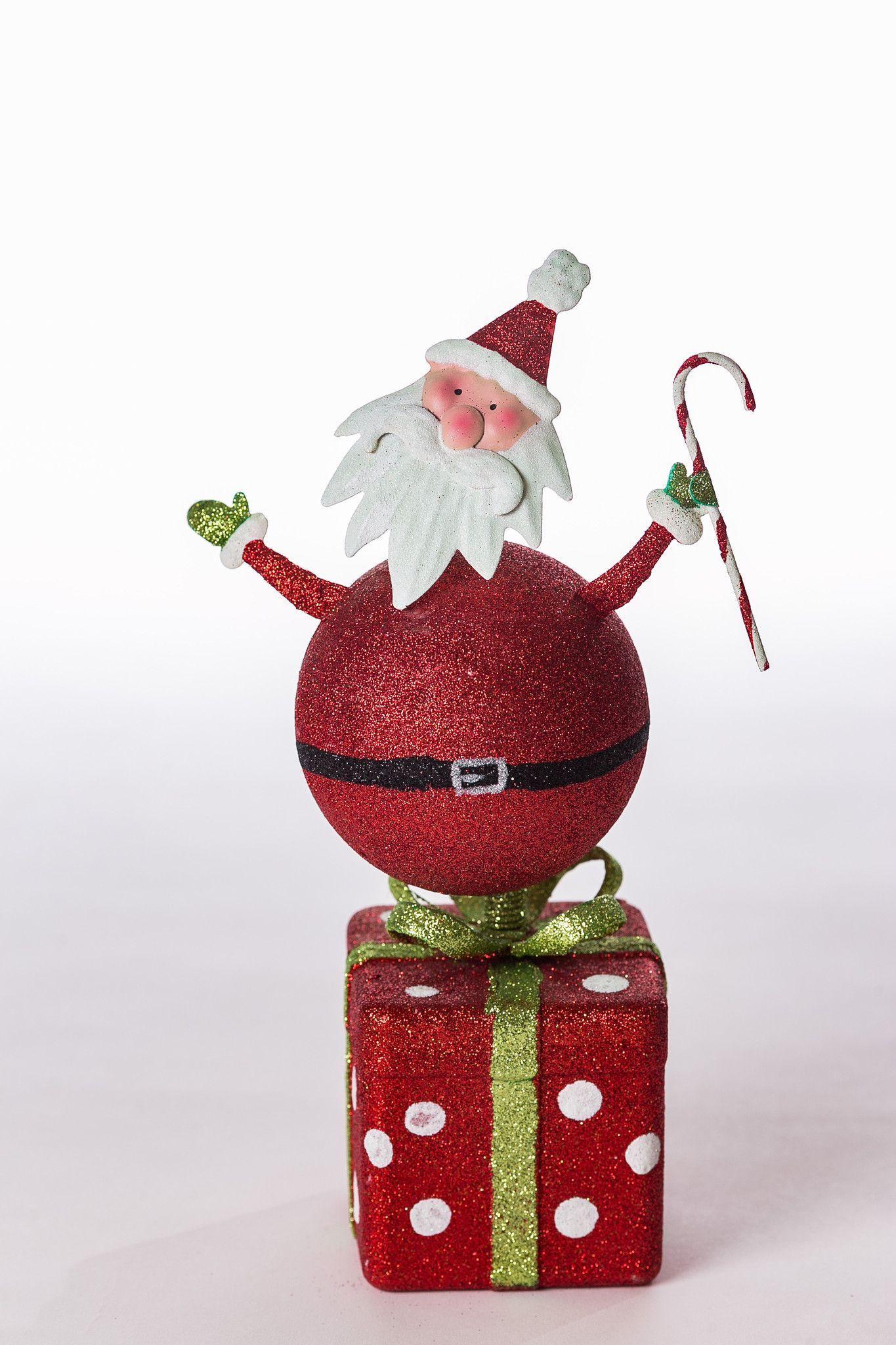 Metallic Santa Red Gift