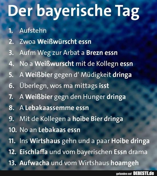 Bayerische Sprüche Lustig