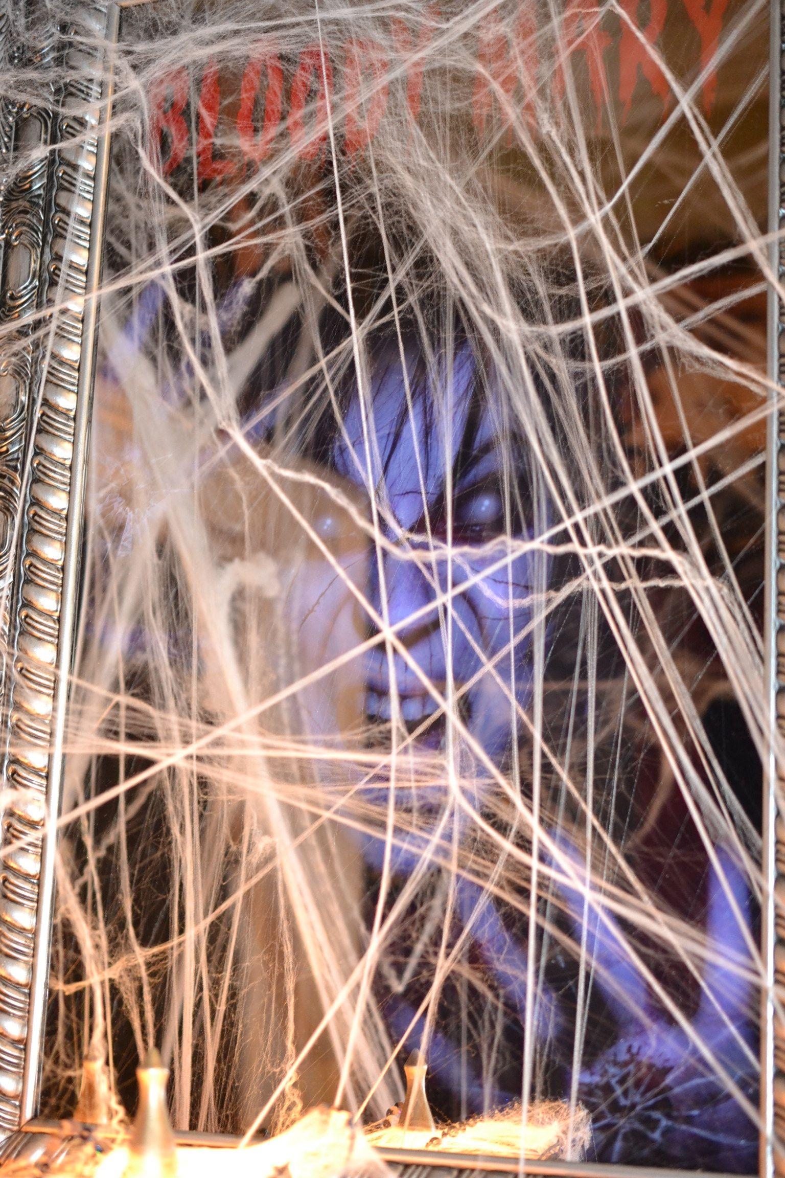 Spirit Halloween Bloody Mary Mirror Behind The Webs - 2014