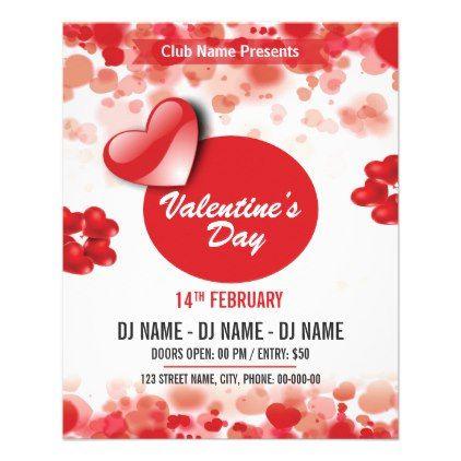 Valentine's Day Party Invitation Flyer | Zazzle.com in ...