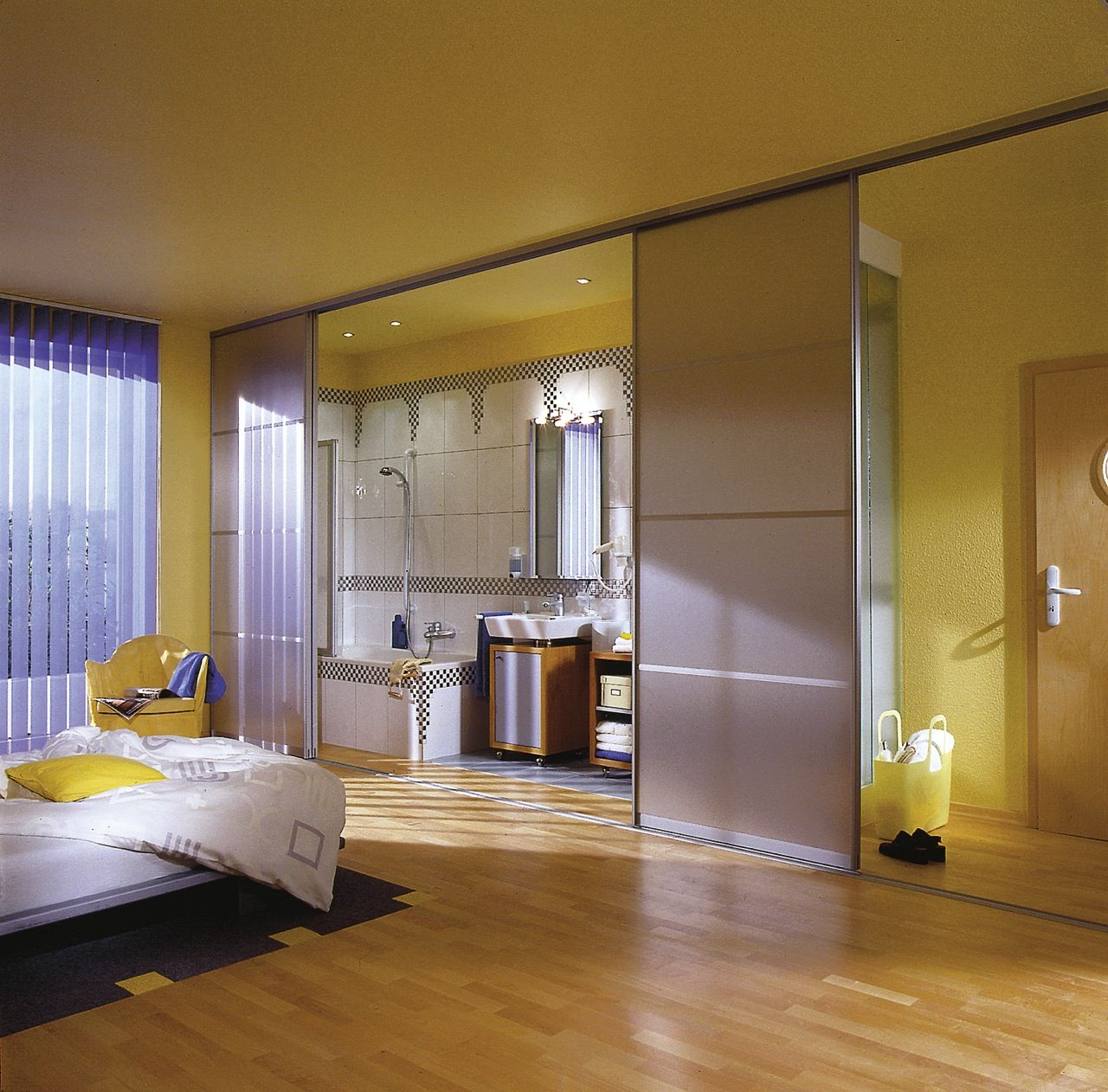 BathroomDesign Furniture Outstanding Modern Open Plan Bedroom
