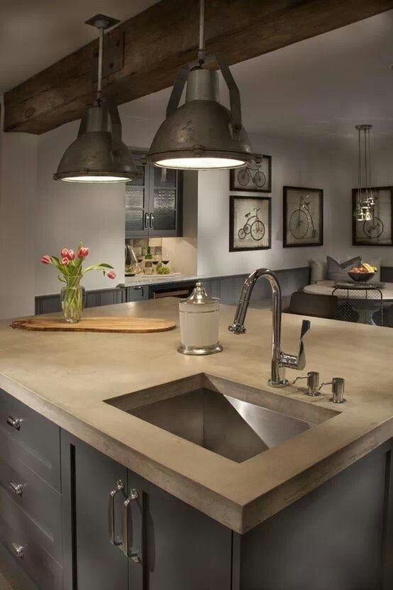 Pin By Nicole Elaina On Lighting Industrial Farmhouse Kitchen