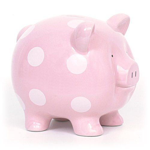 Large Pink Child to Cherish Polka Dot Piggy Bank