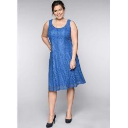 Photo of Große Größen: Kleid mit Spitze, azurblau, Gr.44 Sheego