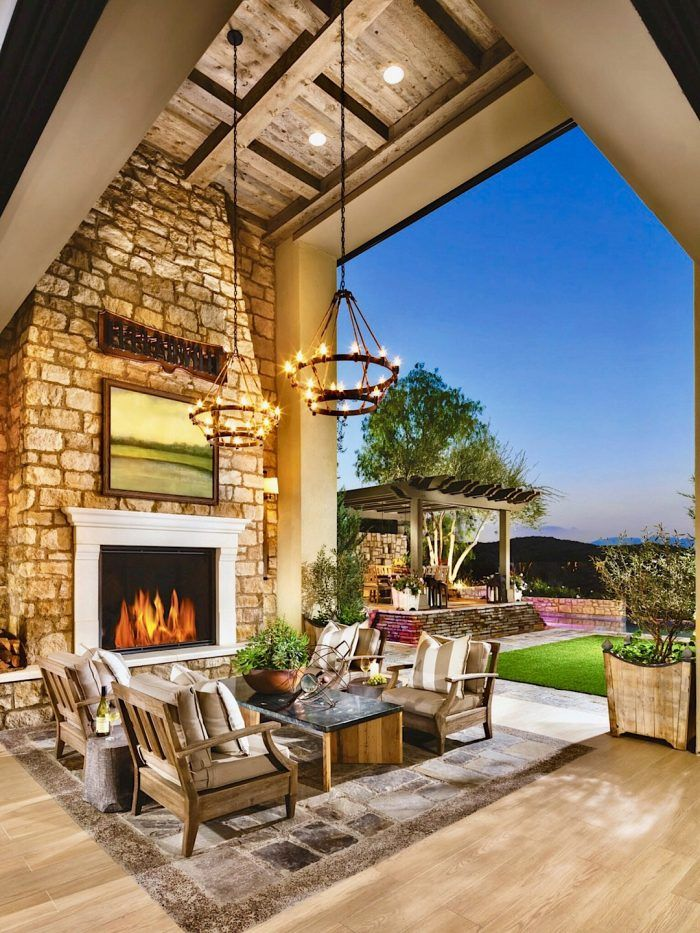 stunning outdoor living spaces toll brothers indoor outdoor living outdoor kitchen design on outdoor kitchen and living space id=84045