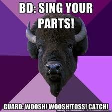 Woosh, woosh, toss! Catch!
