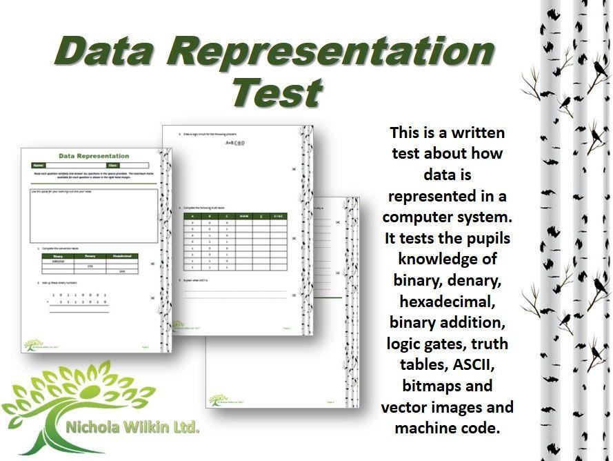 Data Representation end of unit test (GCSE Computer Science