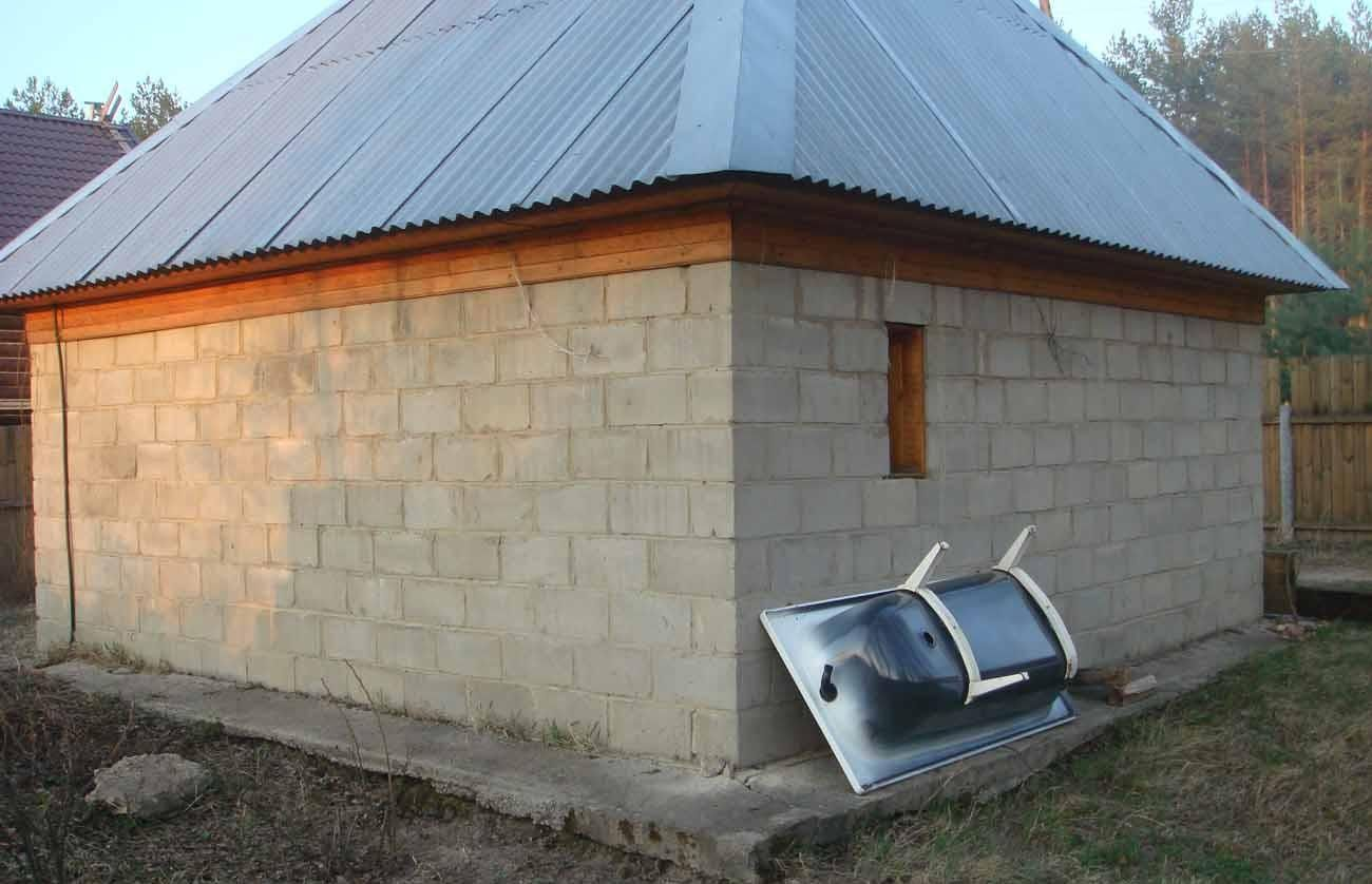 можно ли построить баню из пеноблока