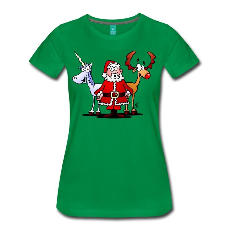 Santa, his reindeer and a unicorn T-Shirt design.  #christmas #Tshirt #santa #santaclaus #reindeer #unicorn #christmasgift #gift #gifts #giftidea #giftideas #spreadshirt #Xmas #fashion  Santa Claus and his reindeer are getting ready for Christmas, but what's that unicorn doing there? It must be a magical Christmas.Cheerful Christmas T-shirt design in full color.