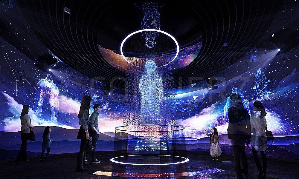 D Hologram Exhibition : Mythology theme exhibition dconcierz design thinking
