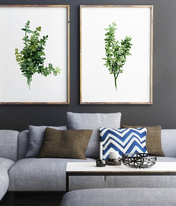 artwork for living room walls blue and green color scheme truly affordable art just a click away rooms pinterest area with grey couch oversized