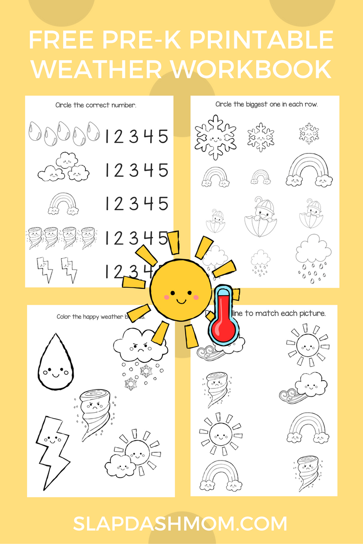 Free Preschool Weather Activity Book | Slap Dash Mom