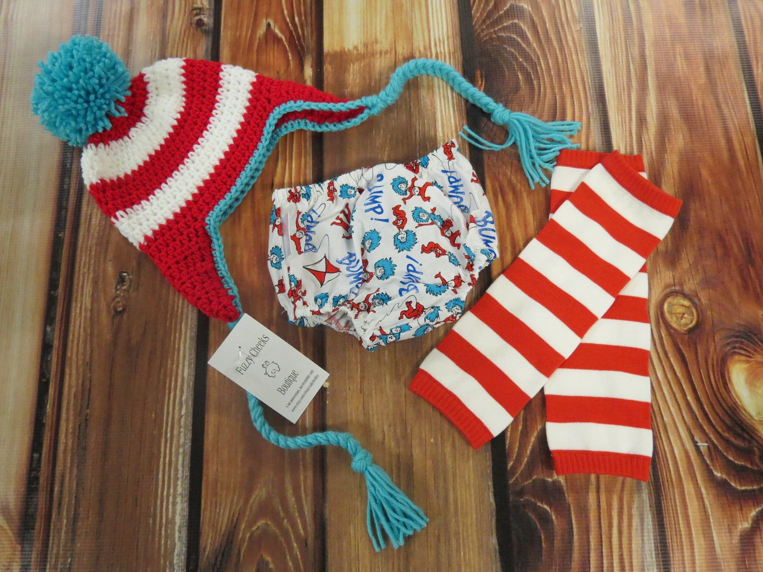 Baby boy / Toddler Dr. Seuss Thing 1 & Thing 2 Outfit with Crochet ...