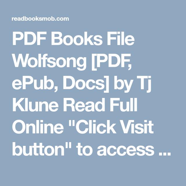 Pdf books file wolfsong pdf epub docs by tj klune read full pdf books file wolfsong pdf epub docs by tj klune read full fandeluxe Gallery
