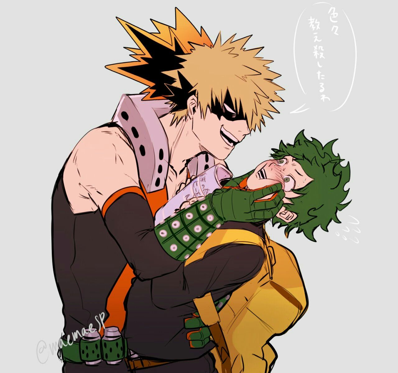 Midoriya And Bakugou Bakudeku My Hero Academia Manga My Hero