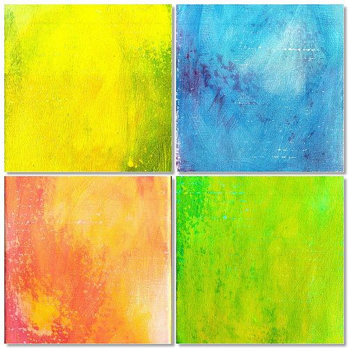 Try It Tuesdays Examples - Week One; Easy Acrylic Backgrounds by Karyn Gartel
