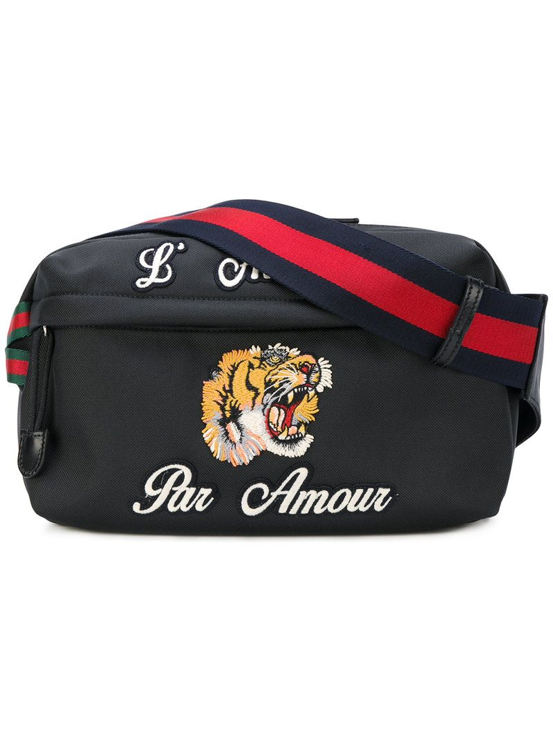 49aaf6bf1ca GUCCI GUCCI - EMBROIDERED TECH PACK BELT BAG .  gucci  bags  belt bags   canvas  polyester