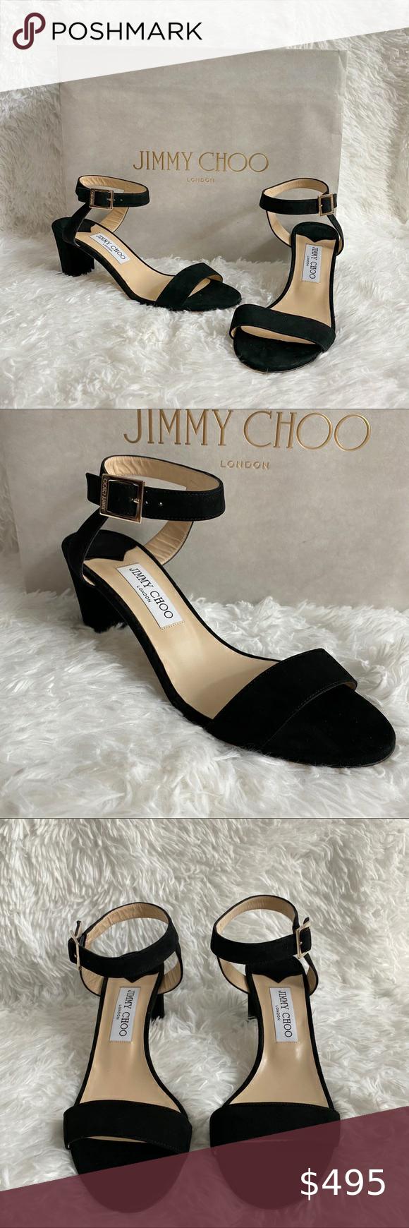 NWT Jimmy Choo City Sandal Black Suede