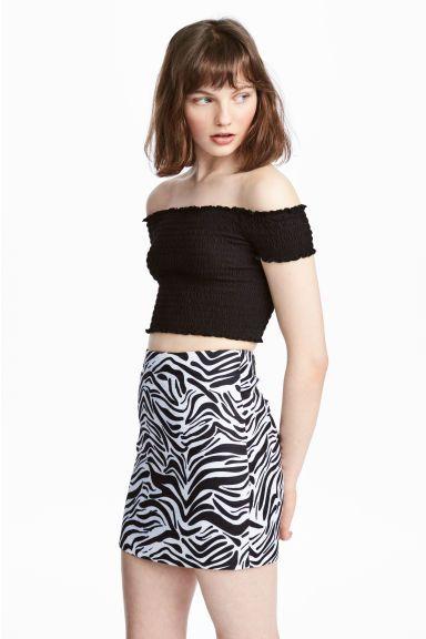 ce5b35914 Minifalda - Estampado de cebra - MUJER   H&M ES 1   Skirts ...
