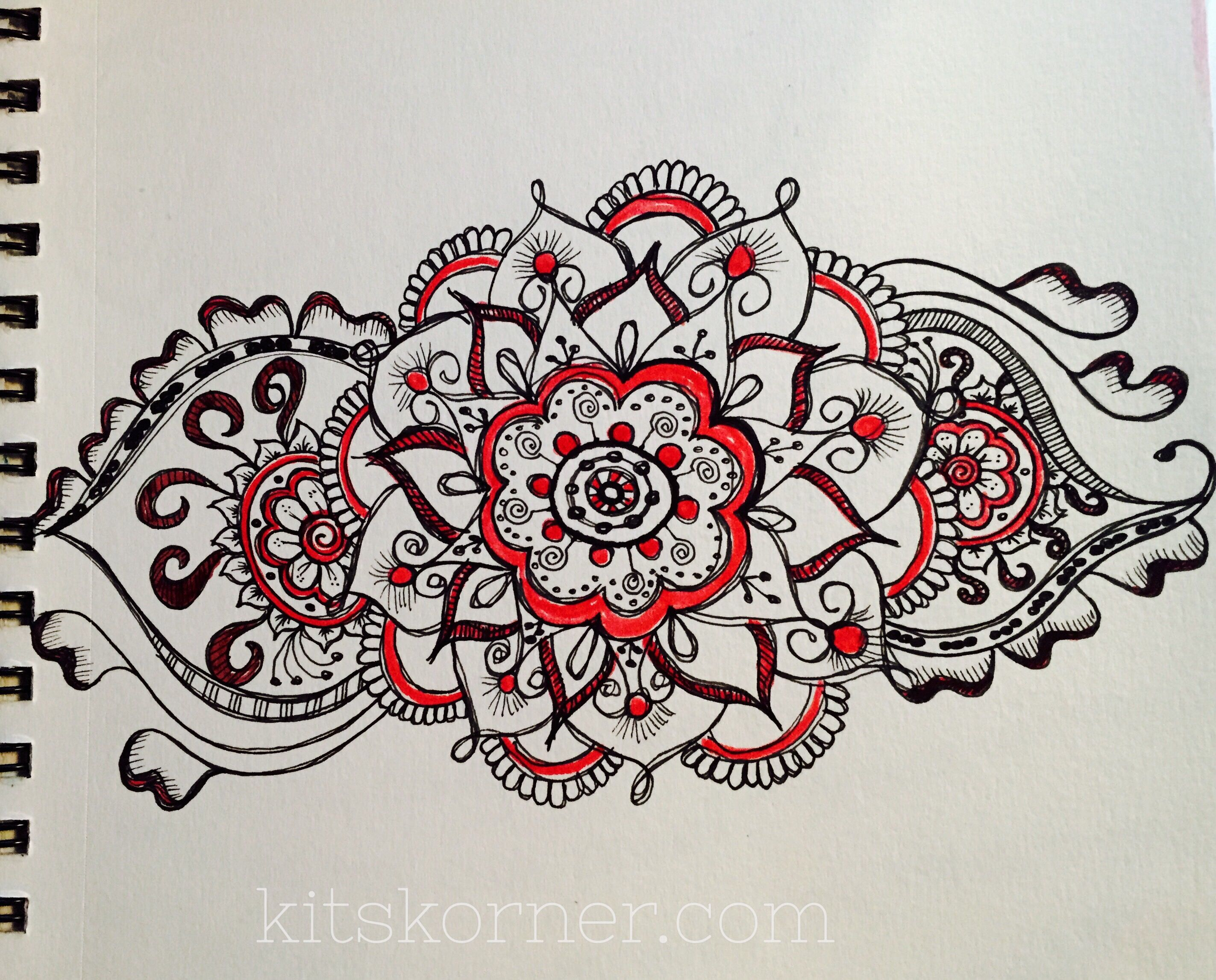 Sketchbook Mandalas 9 Pages Sketch Book Abstract Coloring Pages Mandala Doodle