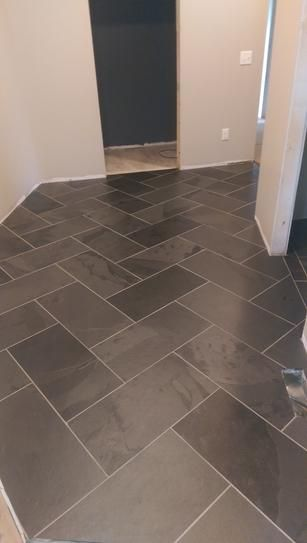 ms montauk black 12 in x 24 in gauged slate floor and wall tile 10 sq ft case