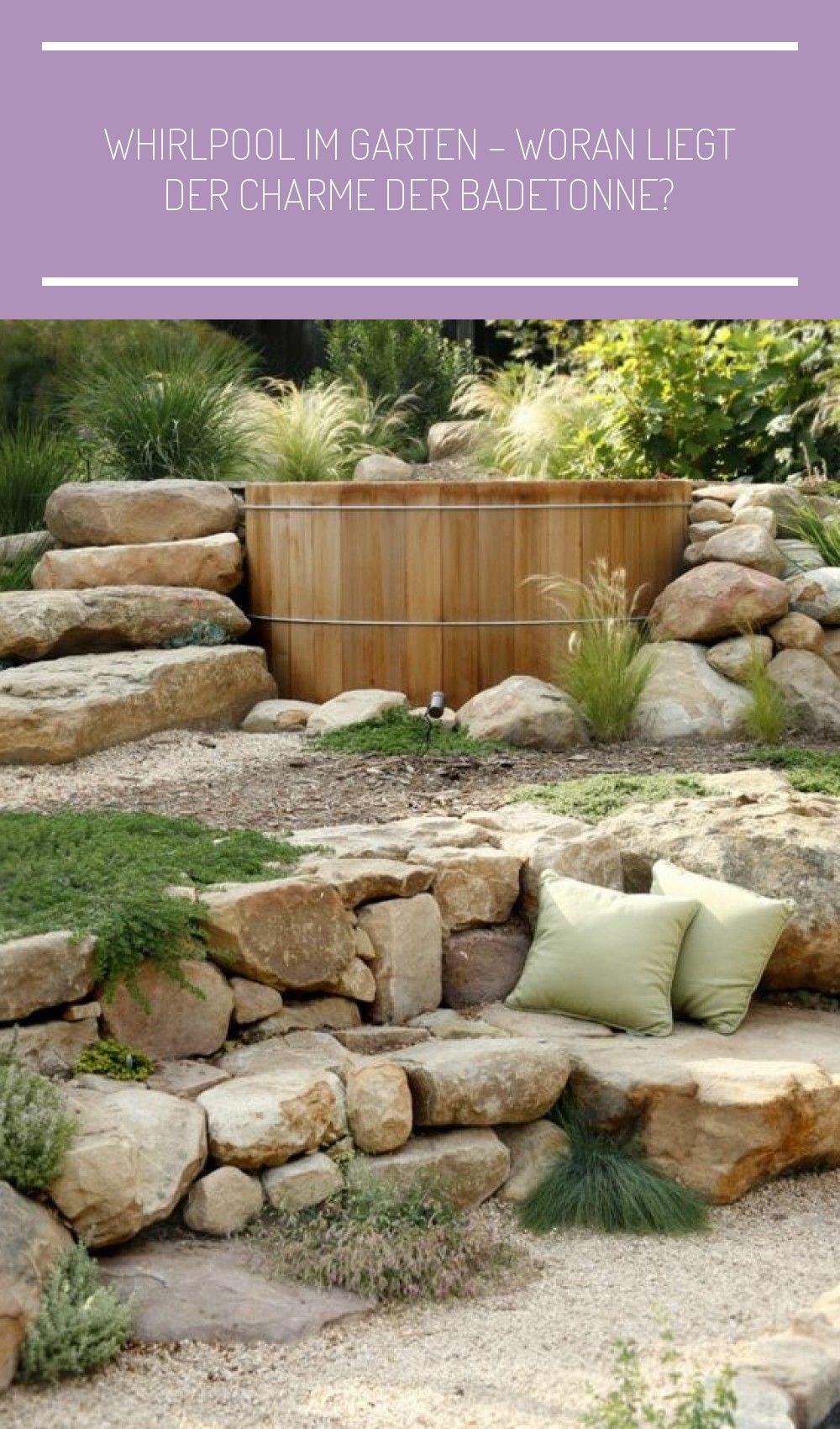 Whirlpool Im Garten Stein Treppe Badefass Sommer Garten Landschaftsbau Treppe