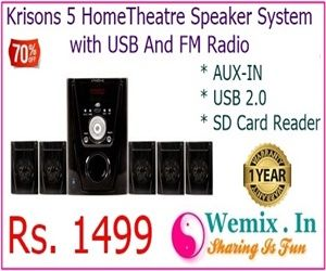Krisons 5 Home Theatre Speaker System with USB And FM Radio Rs 1499