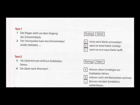 Modeltest 3 übung Zertifikat B1 Modul Hören Teil 1 Youtube