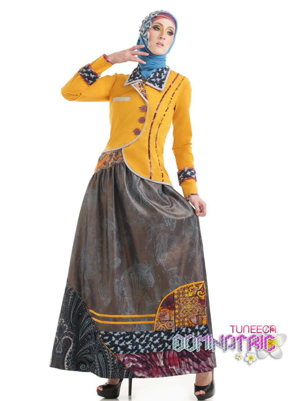 Tuneeca Muslim Dress Hobby Fashion Di 2019 Baju Muslim Model