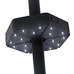 How To Use Umbrella Lights Baner Garden Td17 Patio Umbrella Lightcordless 18 Led Night Lights