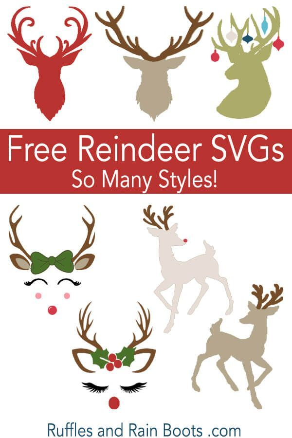 Free Reindeer SVGs and Antler SVGs for Christmas Crafts ...
