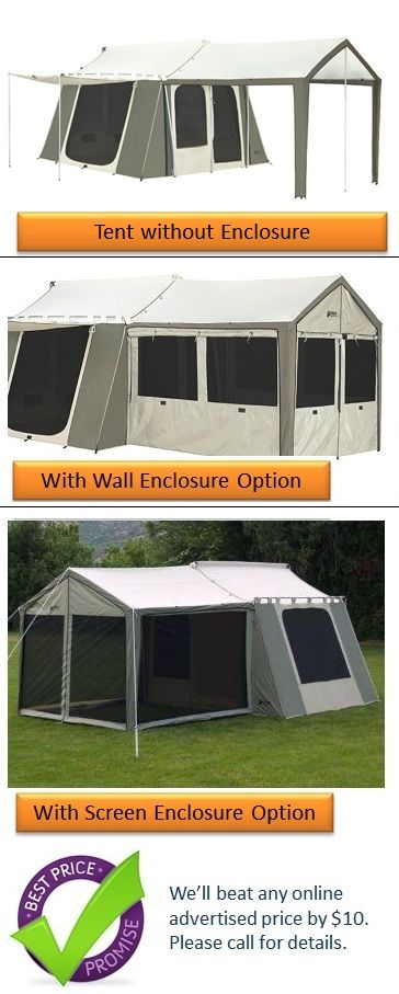 Kodiak Canvas Cabin Tent 6133 6 Person 9x12 With Deluxe Awning Canopy Cabin Tent Tent Family Tent Camping
