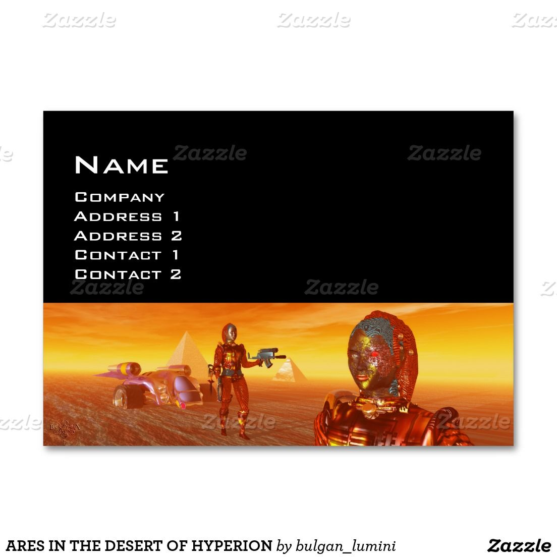 ARES IN THE DESERT OF HYPERION LARGE BUSINESS CARD