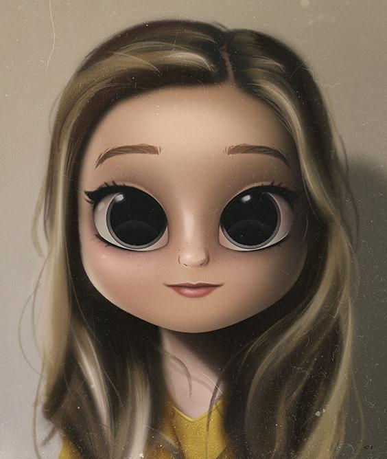 Cartoon Portrait Digital Art Digital Drawing Digital Painting