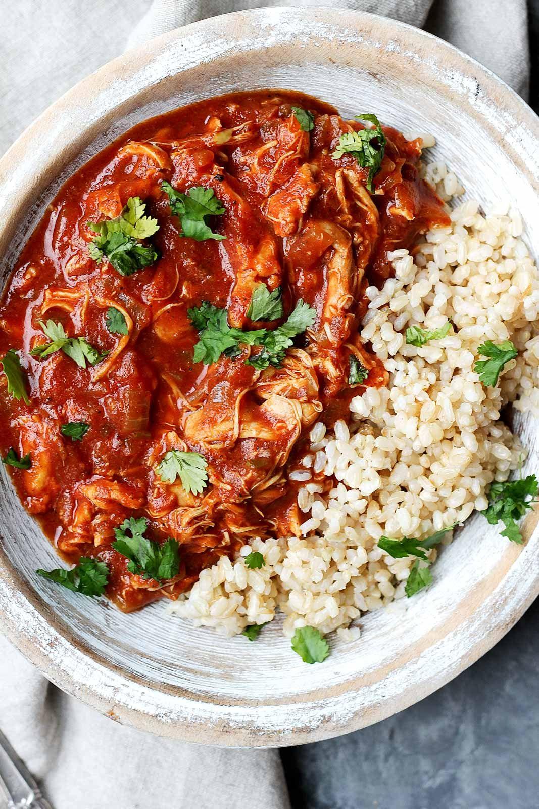 Healthy Slow Cooker Chicken Tikka Masala | Rezept | Essen und Rezepte