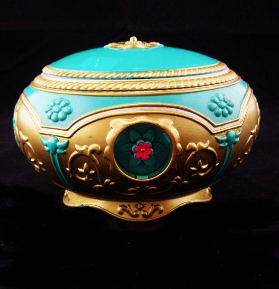 1997 anastasia Music box Once upon a december tune Beauty and the beast  vintage hinged trinket box