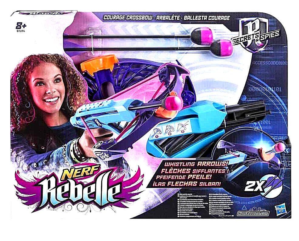 NERF REBELLE Courage Crossbow Blaster w/ Whistling Arrows Girls