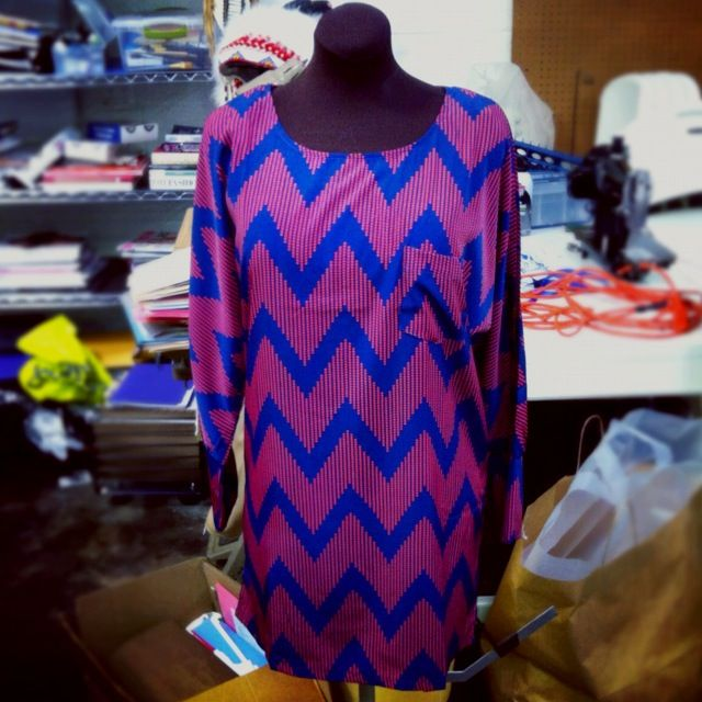 Chevron print dress now available @ Ultra Studios! $53