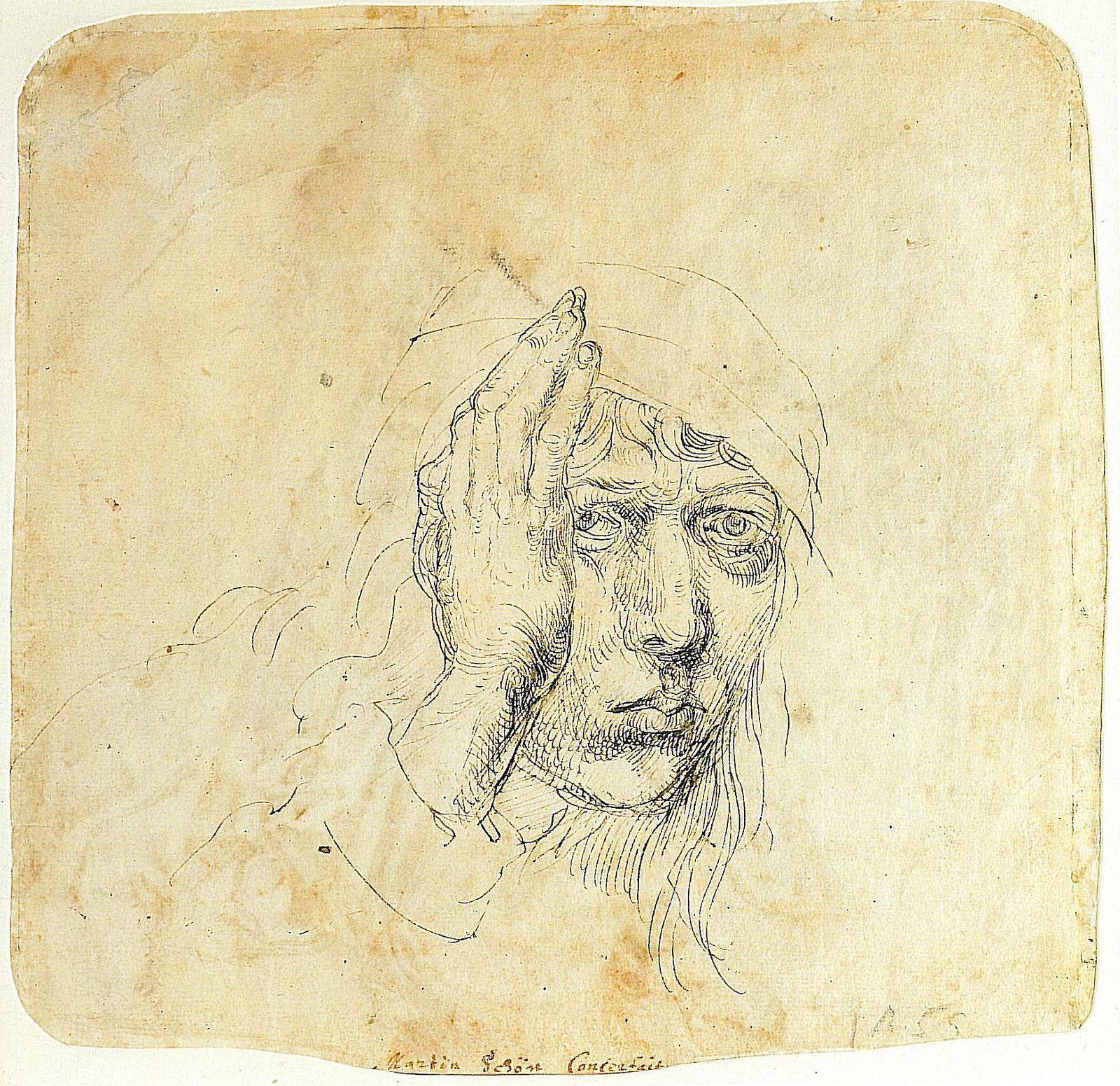 Dürer : Self-portrait with a wrap or bandage [1492]