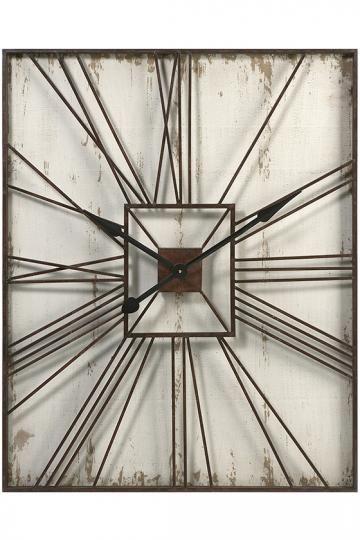 Tucker Wall Clock Modern Rectangular Roman Numeral Homedecorators