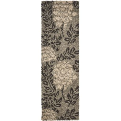 Safavieh Florida Shag Smoke Dark Brown Area Rug Reviews Wayfair With Images Brown Shag Rug Brown Area Rugs