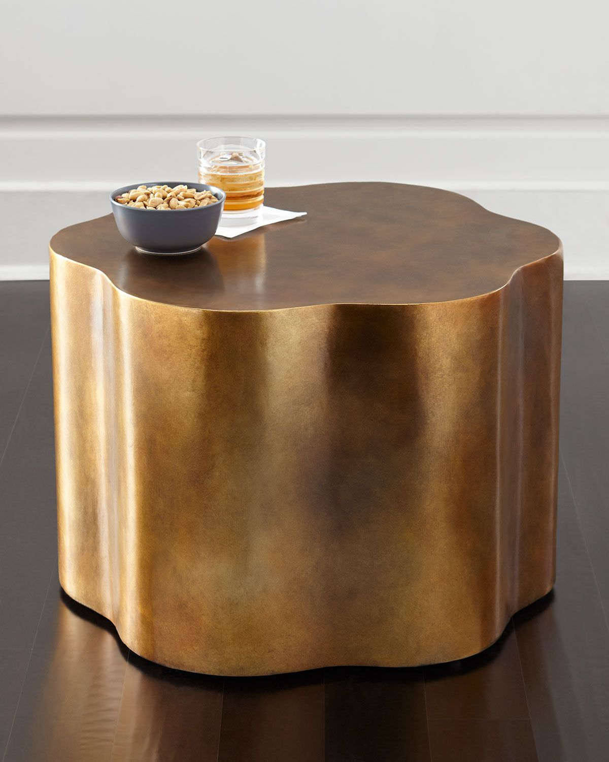 Orla copper accent table copper accents wood composite and woods