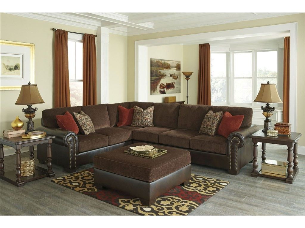 83500 2pc Signature Design Living Room Two Piece Sectional Walker